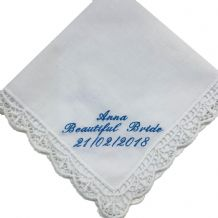 Ladies Personalised Lace Handkerchief